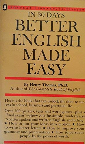9780445084018: Better English Made Easy