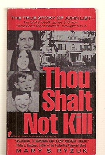 Thou Shalt Not Kill: Mary S. Ryzuk