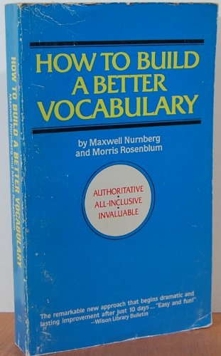 9780446310598: Title: How to Build a Better Vocabulary