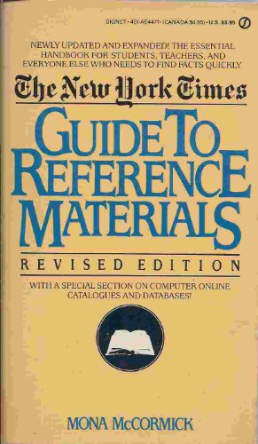 9780446311885: The New York Times Guide to Reference Materials