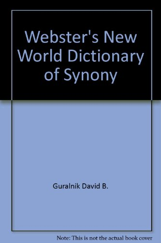 Webster's New World Dictionary of Synony