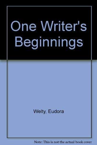 9780446343015: One Writer's Beginnings