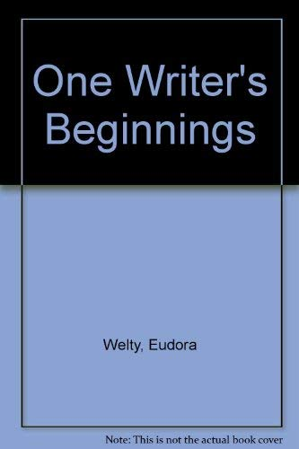 9780446343015: One Writer's Beginnings