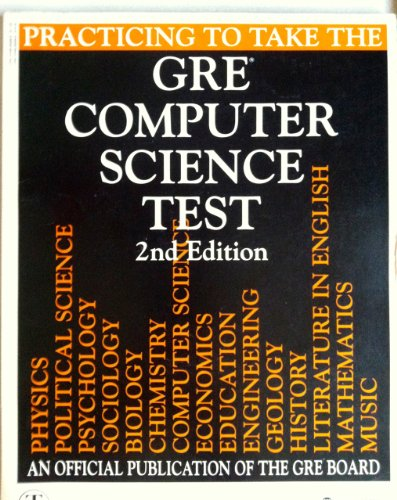 9780446393089: Practicing to Take the GRE Computer Science Test