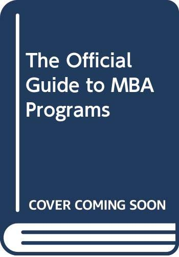 9780446395595: The Official Guide to MBA Programs