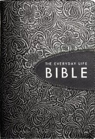 9780446559324: The Everyday Life Bible: Hand-tooled Pewter with Graphite Inset (Bonded Leather)