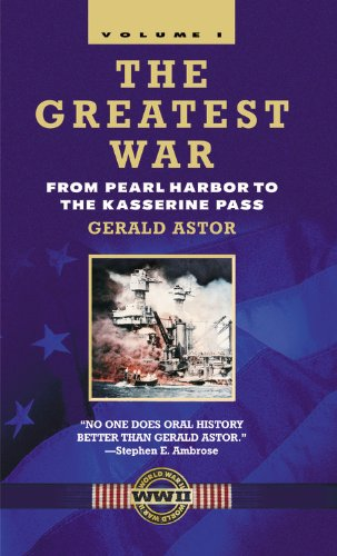 9780446610469: The Greatest War - Volume I: From Pearl Harbor to the Kasserine Pass (Vol I)