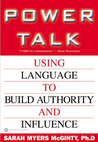 9780446678124: Power Talk: Using Language to Build Authority and Influence