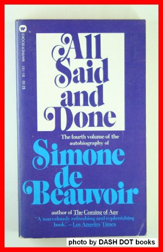 All Said and Done: Simone De Beauvoir