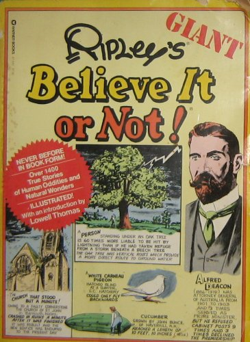Ripley's Giant Believe It or Not (9780446874663) by Robert Ripley
