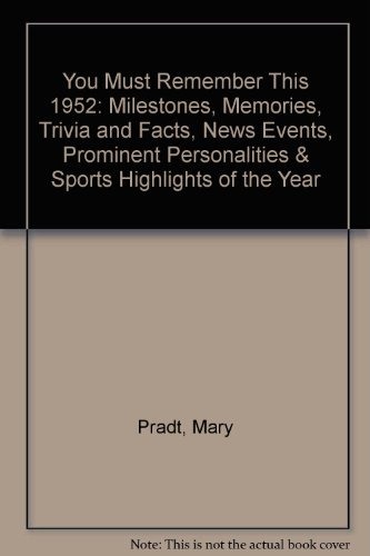 9780446910286: You Must Remember This 1952: Milestones, Memories, Trivia and Facts, News Events, Prominent Personalities & Sports Highlights of the Year