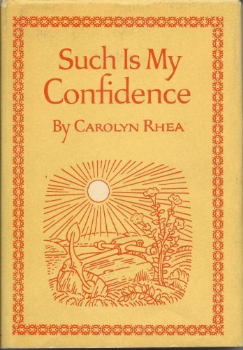 9780448016603: Such Is My Confidence
