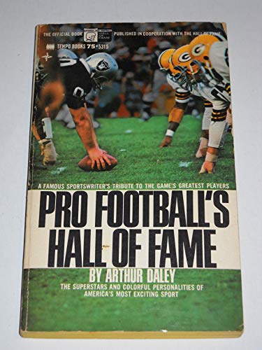 9780448053158: Pro Football's Hall of Fame (Tempo Sports, #5315)