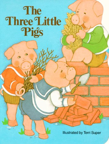 9780448102146: The Three Little Pigs (Pudgy Pal Board Books)