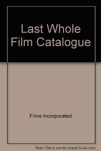 9780448121864: Last Whole Film Catalogue