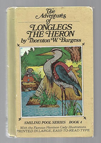 Longlegs the Heron Hb/pc Longlegs The Heron HB/PC, Burgess, Thornton W., Used, 9780448137407 Hardback Book with Pictorial Cover is in Good condition with a tight binding and mostly clean crisp pages with a few marks. Outside tan pictorial covers show some wear primarily to the outside corners to include the top and bottom of the outside spine that shows some scuffing and some small tears.