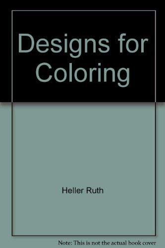 9780448139548: Designs for Coloring: Cats