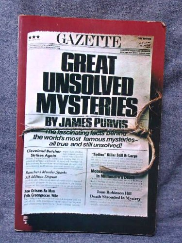 Great Unsolved Mysteries: James Purvis