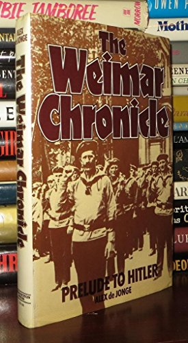 9780448221885: The Weimar chronicle: Prelude to Hitler