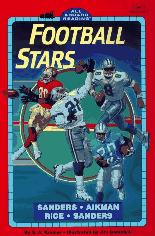 9780448415918: Football Stars: Sanders, Aikman, Rice, Sanders (All Aboard Reading, Level 3)