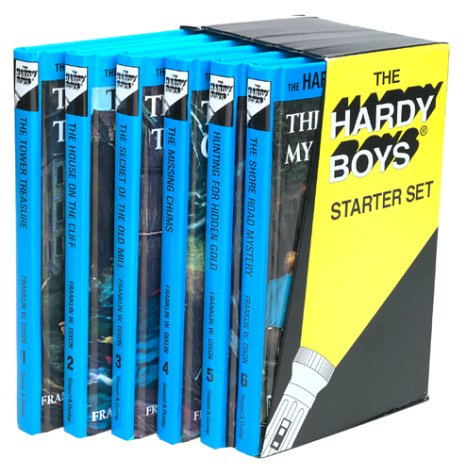 9780448416717: Hardy Boys Starter Set (The Tower Treasure / The House on the Cliff / The Secret of the Old Mill / The Missing Chums / Hunting for Hidden Gold / The Shore Road Mystery)