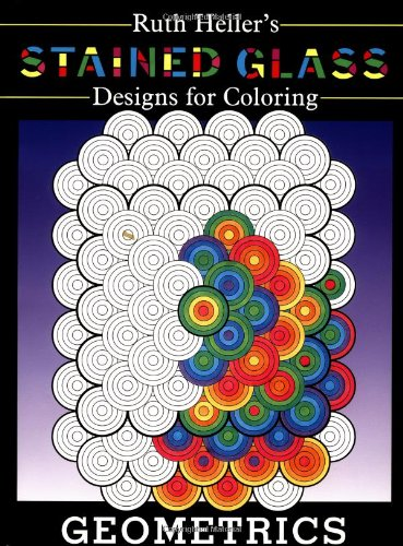 9780448418537: Stained Glass Designs for Coloring: Geometrics
