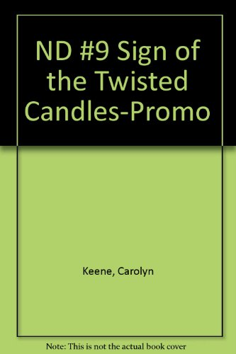 9780448432977: ND #9 Sign of the Twisted Candles-Promo (Nancy Drew)
