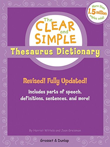 9780448443096: The Clear and Simple Thesaurus Dictionary: Revised! Fully Updated!