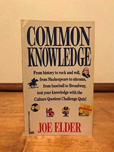 Common Knowledge: Elder, Joseph