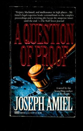 9780449149195: A Question of Proof