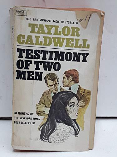 9780449239353: TESTIMONY TWO MEN 1