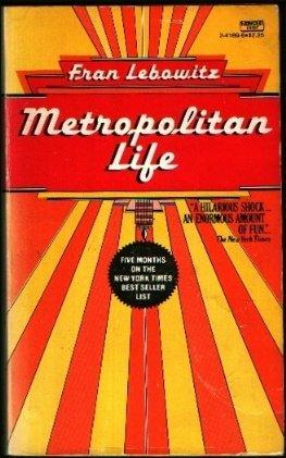 9780449241691: Metropolitan Life 2