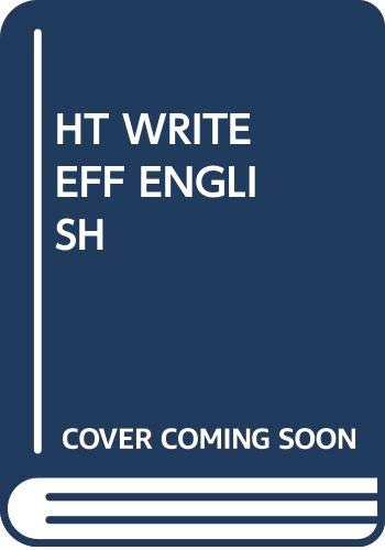HT Write Eff English (0449308588) by Edward Allen