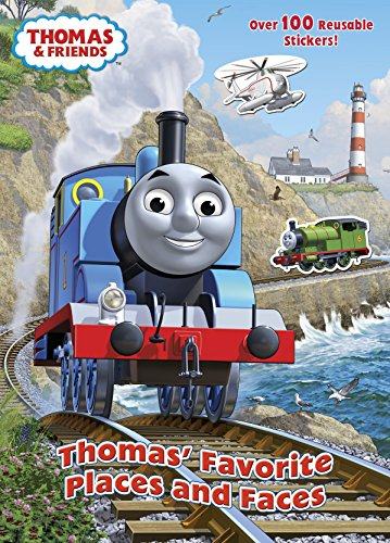 9780449817124: Thomas' Favorite Places and Faces Reusable Sticker Book