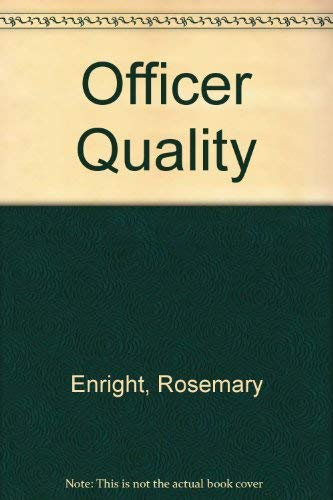 9780450610059: Officer Quality