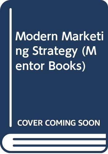9780451000897: Modern marketing strategy