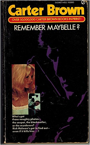 Remember Maybelle (9780451069955) by Carter Brown