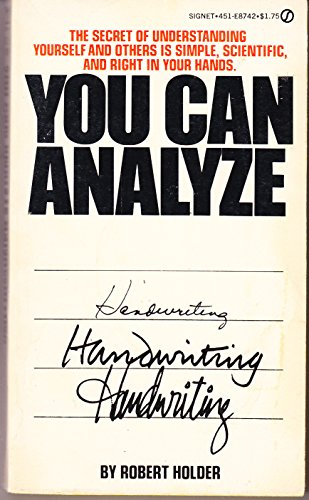 9780451071705: You Can Analyze Your Handwriting (Signet Books)