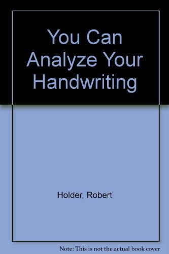 9780451087423: You Can Analyze Your Handwriting