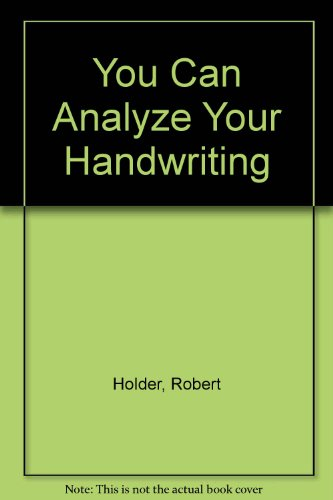 9780451096425: You Can Analyze Your Handwriting