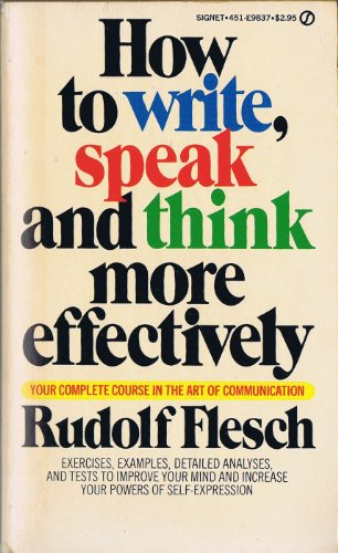 9780451098375: How to Write, Speak, and Think More Effectively