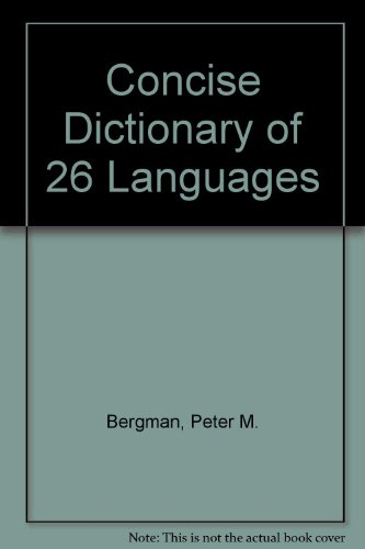 9780451114785: Concise Dictionary of 26 Languages