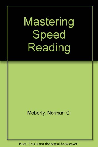 9780451136961: Mastering Speed Reading