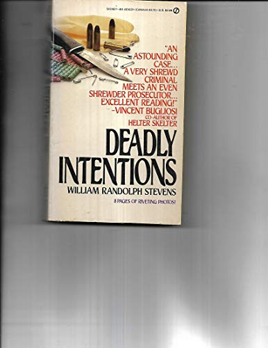 9780451140319: Deadly Intentions