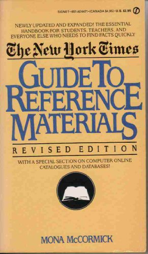 9780451144713: New York Times Guide to Reference Material (Signet)