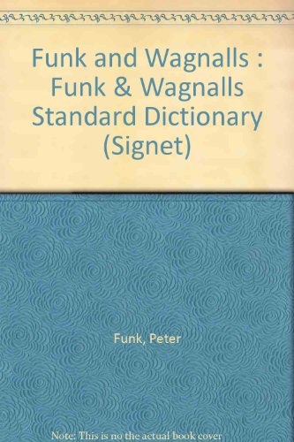 9780451161826: Funk and Wagnalls : Funk & Wagnalls Standard Dictionary (Signet)