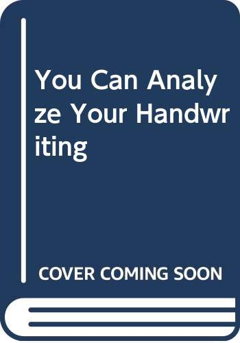 9780451162441: You Can Analyze Your Handwriting (Signet)