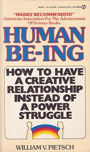 Human Being (Signet): Pietsch, William V.