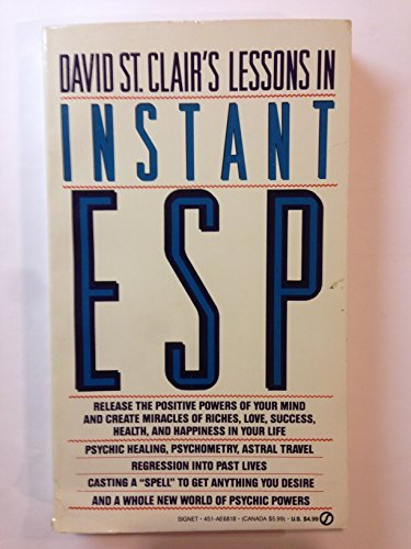 9780451168184: David St. Clair's Lessons in Instant ESP