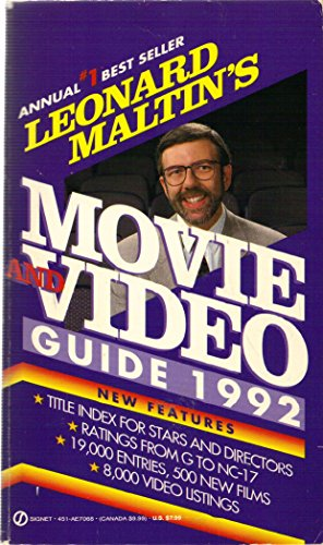 9780451170682 leonard maltin s movie and video guide 1992 signet rh abebooks com leonard maltin movie guide online leonard maltin movie guide 2018